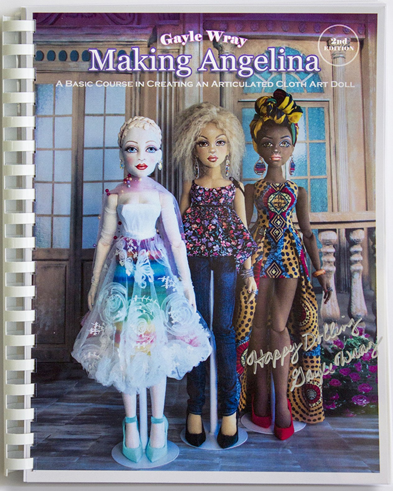 How To Make A Book Cover Cloth ~ Doll class cloth articulated art doll tutorial course book